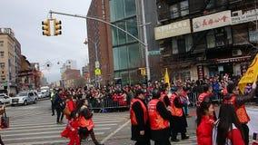 La celebración china del Año Nuevo 2014 en NYC 21 Imagenes de archivo