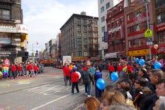 La celebración china del Año Nuevo 2014 en NYC 26 Fotografía de archivo