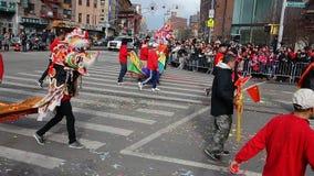 La celebración china del Año Nuevo 2014 en NYC 30 Imagen de archivo libre de regalías