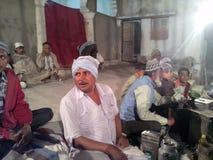La celebración de Eid en pueblo indio Foto de archivo