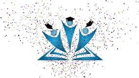 La celebración de la graduación figura la cantidad stock de ilustración