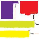 La celebración de la pintura colorea la pared Foto de archivo libre de regalías
