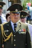 La celebración de Victory Day en la guerra mundial 2 puede 9, 2016, en la región de Gomel de la República de Belarús Imagen de archivo