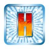 La celebración del alfabeto letra H Imagen de archivo libre de regalías