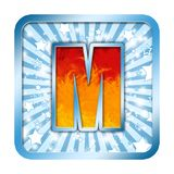 La celebración del alfabeto letra M Imagen de archivo