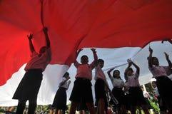 La celebración del Día de la Independencia de Indonesia Foto de archivo libre de regalías