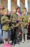 La celebración del día de la victoria en Moscú. Imagenes de archivo
