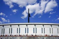 La celebración del día de la victoria en la colina de Poklonnaya Fotos de archivo libres de regalías