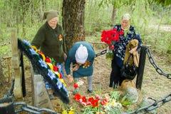 La celebración del día de victoria en la guerra 1941-1945 en la región de Kaluga de Rusia Imagen de archivo