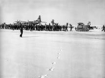 La celebración del 1 de mayo en la estación polar de deriva NP-22 Fotografía de archivo