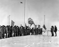 La celebración del 1 de mayo en la estación polar de deriva NP-22 Fotografía de archivo libre de regalías