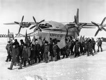 La celebración del 1 de mayo en la estación polar de deriva NP-22 Foto de archivo libre de regalías