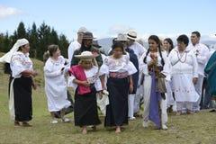 La celebración del solsticio, día de fiesta Inti Raymi Foto de archivo