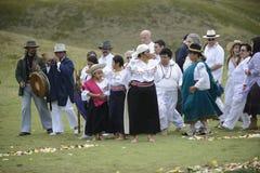 La celebración del solsticio, día de fiesta Inti Raymi Imágenes de archivo libres de regalías