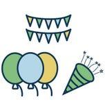 La celebración, evento aisló el icono del vector para el partido y la celebración ilustración del vector
