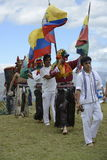 La celebrazione del solstizio, festa Inti Raymi Fotografie Stock Libere da Diritti