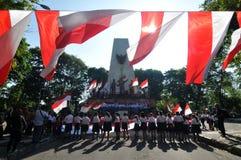 La celebrazione della festa dell'indipendenza dell'Indonesia Immagini Stock Libere da Diritti