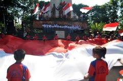 La celebrazione della festa dell'indipendenza dell'Indonesia Fotografie Stock Libere da Diritti