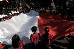 La celebrazione della festa dell'indipendenza dell'Indonesia Fotografia Stock