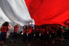La celebrazione della festa dell'indipendenza dell'Indonesia Fotografia Stock Libera da Diritti