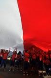 La celebrazione della festa dell'indipendenza dell'Indonesia Immagini Stock
