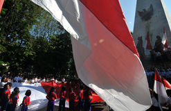 La celebrazione della festa dell'indipendenza dell'Indonesia Fotografie Stock