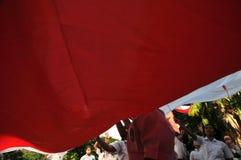 La celebrazione della festa dell'indipendenza dell'Indonesia Immagine Stock