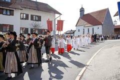 La celebrazione della prima comunione santa fotografie stock libere da diritti