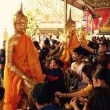 La celebrazione di Buddhistism durante il nuovo anno fotografie stock