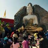 La celebrazione di Buddhistism durante il nuovo anno immagine stock libera da diritti