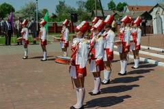 La celebrazione di Victory Day nella guerra mondiale 2 può 9, 2016, nella regione di Homiel'della Repubblica Bielorussa Fotografie Stock Libere da Diritti