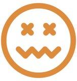 La celebridad, vector del emoticon aisló el icono que puede modificarse o corregir fácilmente ilustración del vector