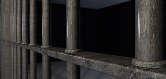 La cellule de prison barre le plan rapproché extrême photo libre de droits