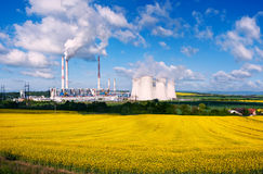 La central eléctrica Imagen de archivo libre de regalías