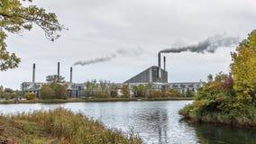 La central eléctrica Amagervaerket en Copenhague imagen de archivo libre de regalías