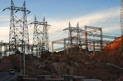 La central eléctrica de la presa de Hoover Imágenes de archivo libres de regalías