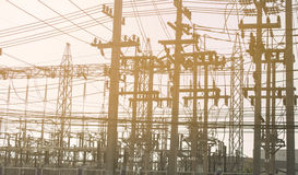 La central eléctrica para industrial Foto de archivo libre de regalías