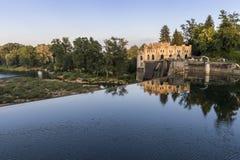 La central hidroeléctrico de Ozalj fotografía de archivo libre de regalías