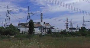 La central nuclear de Chernobyl almacen de video