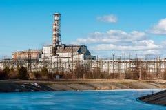 La central nuclear de Chernobyl en el marzo de 2012 Foto de archivo
