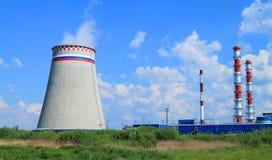 La central térmico más grande del Kaliningrado Imagen de archivo
