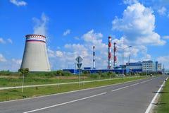 La central térmico más grande del Kaliningrado Fotos de archivo libres de regalías