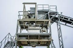La centrale di betonaggio è una macchina per creare il concret, dalla sabbia, pietra, Fotografia Stock Libera da Diritti