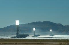 La centrale elettrica del ivanpah Fotografia Stock