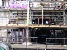 La centrale elettrica di Market Street ha abbandonato 40 anni a New Orleans Luisiana fotografia stock libera da diritti