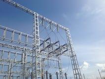La centrale fournit l'électricité Image libre de droits