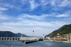La centrale hydroélectrique de la porte I de fer Image stock