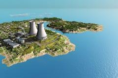 La centrale sur l'île Photos stock