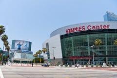 LA, centre d'agrafes dedans au centre ville Image stock