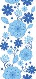 La cerámica de Delft Holanda azul florece inconsútil vertical Imágenes de archivo libres de regalías